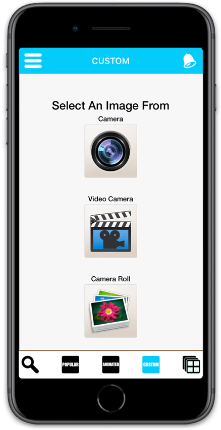 Create Your Own Personalised Greeting Cards With The Images From Photo Library Or By Using Built Camera NEW You Can Now A Video Message